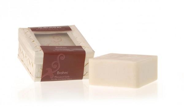 Auromere - Pflanzenöl Seifen mit Olivenöl - Brahmi Pflanzenöl-Seife für trockene Haut Naturkosmetik